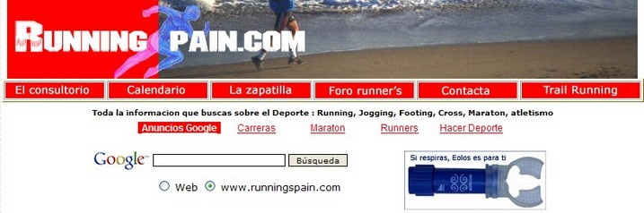 Eolos in Running Spain